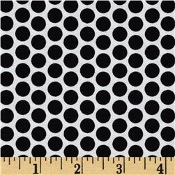 Riley Blake Honeycomb Reversed Dot White/Black Fabric