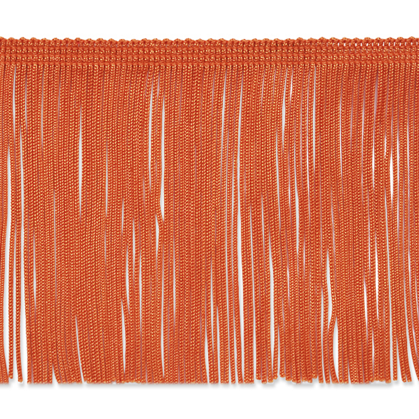 4'' Chainette Fringe Trim Orange