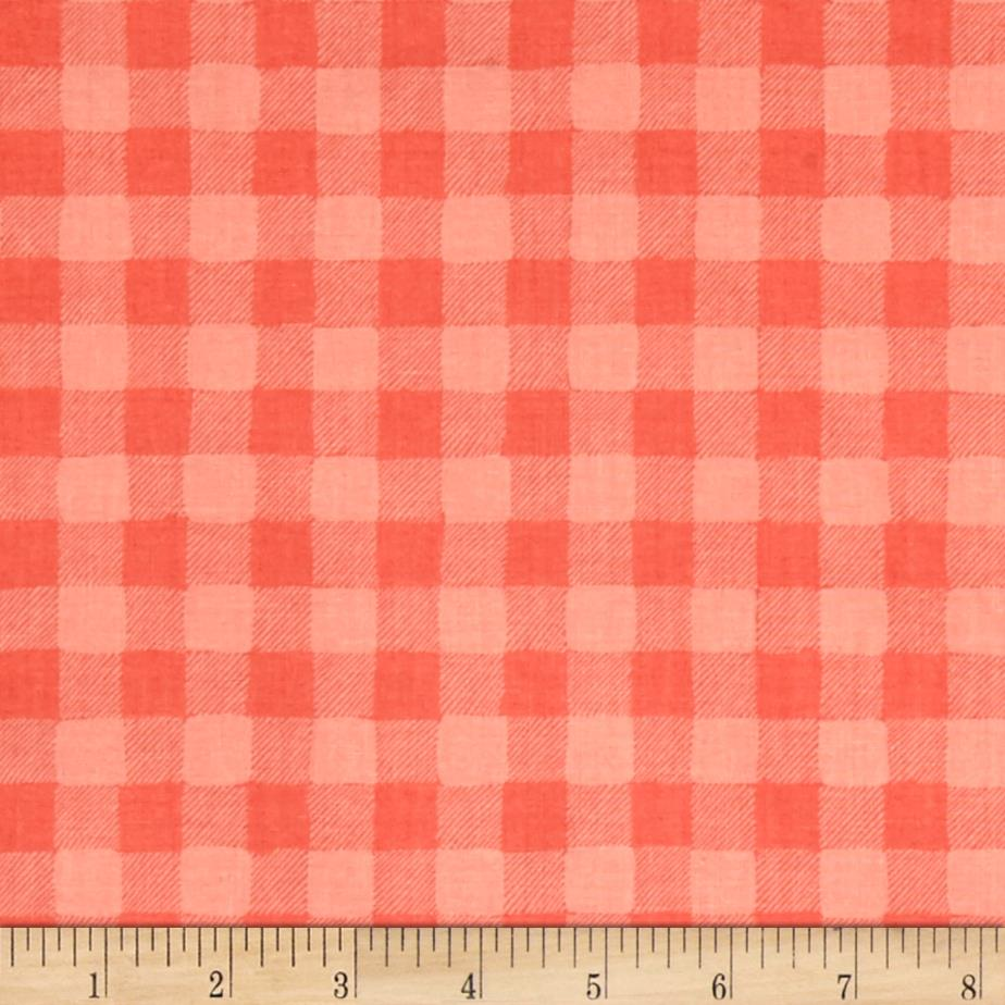 Dear Stella Trail Mix Gingham Coral