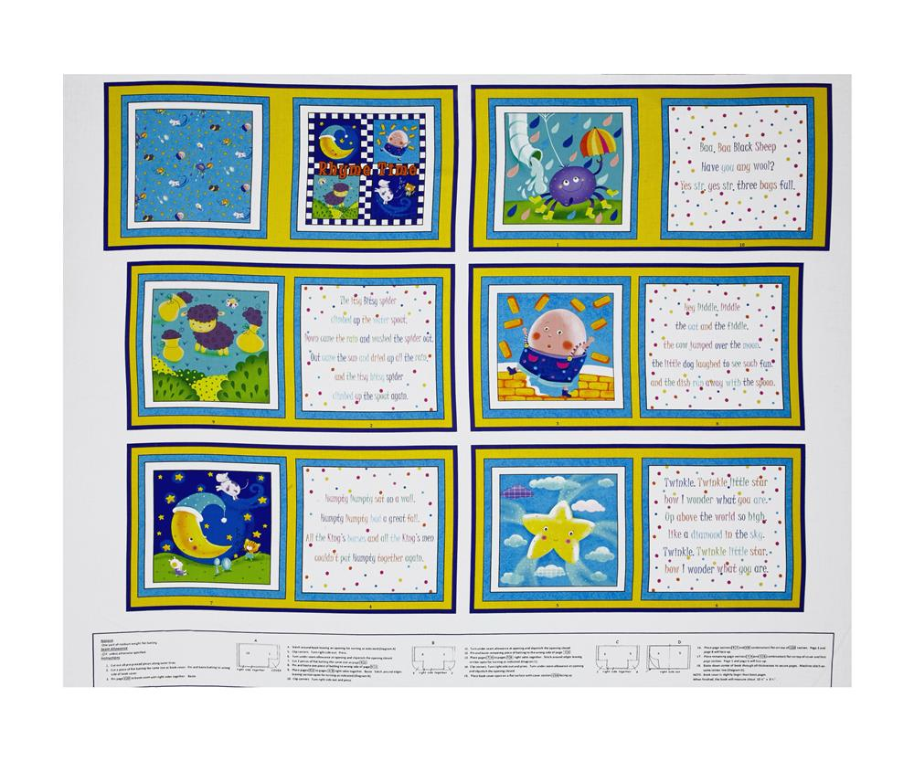 Sanja Rescek Rhyme Time 34'' Book Panel Fabric