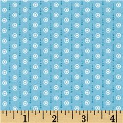 Sunny Days Mini Dots Blue Fabric