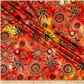 Indian Batik Odyssey Gold Sun Sunset