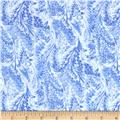 Timeless Treasures Blue Winter Marble Frost Chambray