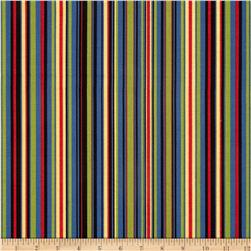 Michael Miller Retro Play Stripe Black Fabric