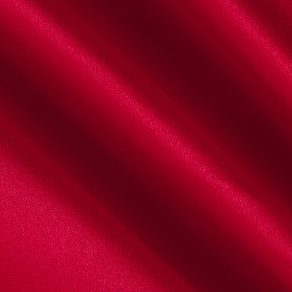 Stretch Rayon Poly Sateen Cherry Red