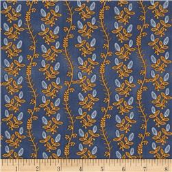 Mary Koval Tree of Life Vine Stripe Blue