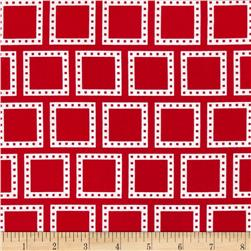 Color Composition Squares Red Fabric