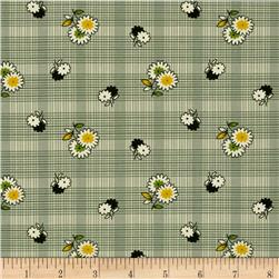 Denyse Schmidt Winter Walk Floral Plaid Evergreen
