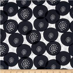 Mod About You Floral Polka Dot Black