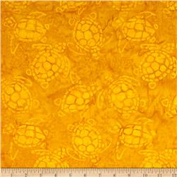 Michael Miller Batik Sea Turtles Yellow