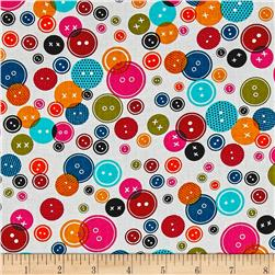 Kanvas Sew Sew Lots of Buttons White/Multi