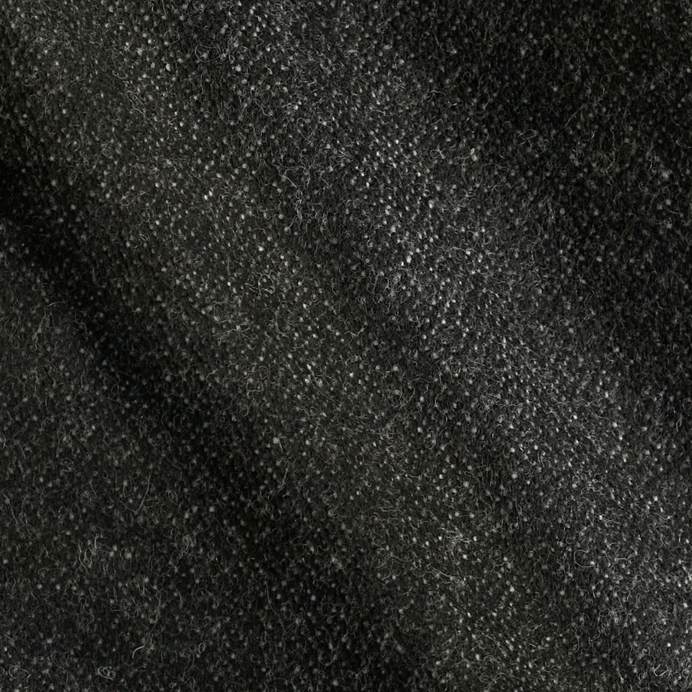 Wool Blend Shimmer Suiting Dark Grey