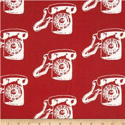 Contempo Vintage Scrapbook Call Me Red Fabric