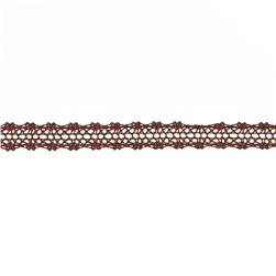 "May Arts 5/8"" Crochet Lace Ribbon Spool Brown"