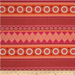 Joel Dewberry Notting Hill Banded Bliss Tangerine Fabric