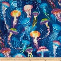Timeless Treasures Jellyfish Blue