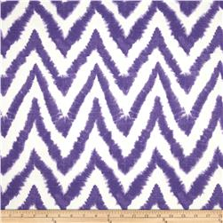 Premier Prints Diva Chevron Slub Thistle Fabric