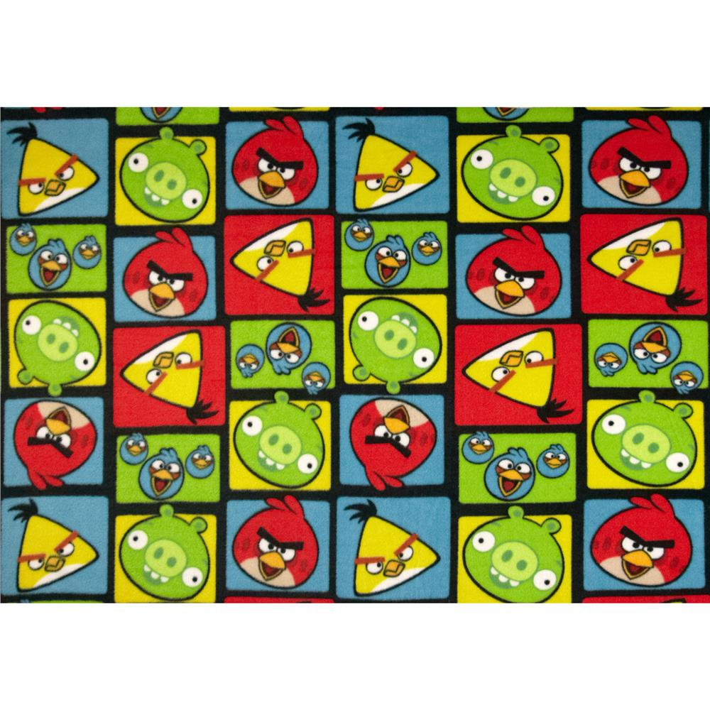 Angry Birds Fleece Squares Black