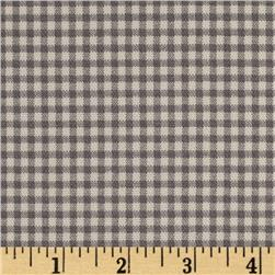 Small Check Ivory/Charcoal Fabric