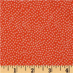 Michael Miller Garden Pindot Clementine Orange Fabric