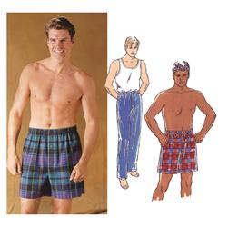 Kwik Sew Men's Pajama Pants & Shorts Pattern