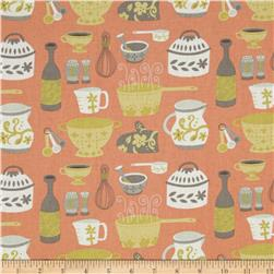 Clementine Kiss The Cook Coral Fabric
