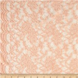 Stretch Floral Lace Peach