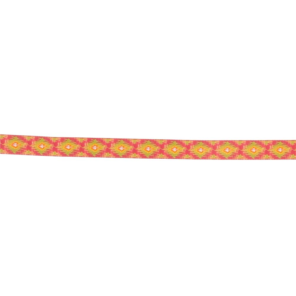 5/8'' Dena Designs Ikat Ribbon Pink