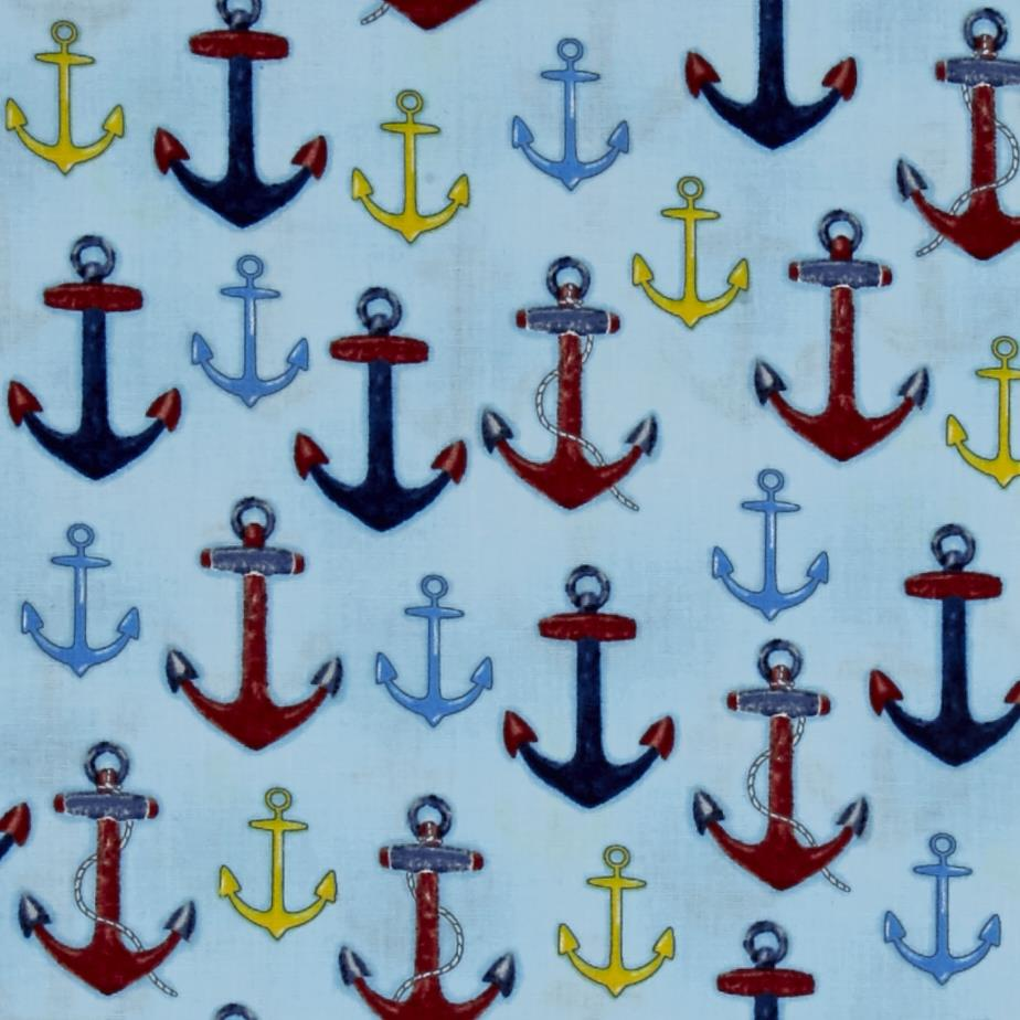 Kaufman Down By The Sea Anchors Nautical