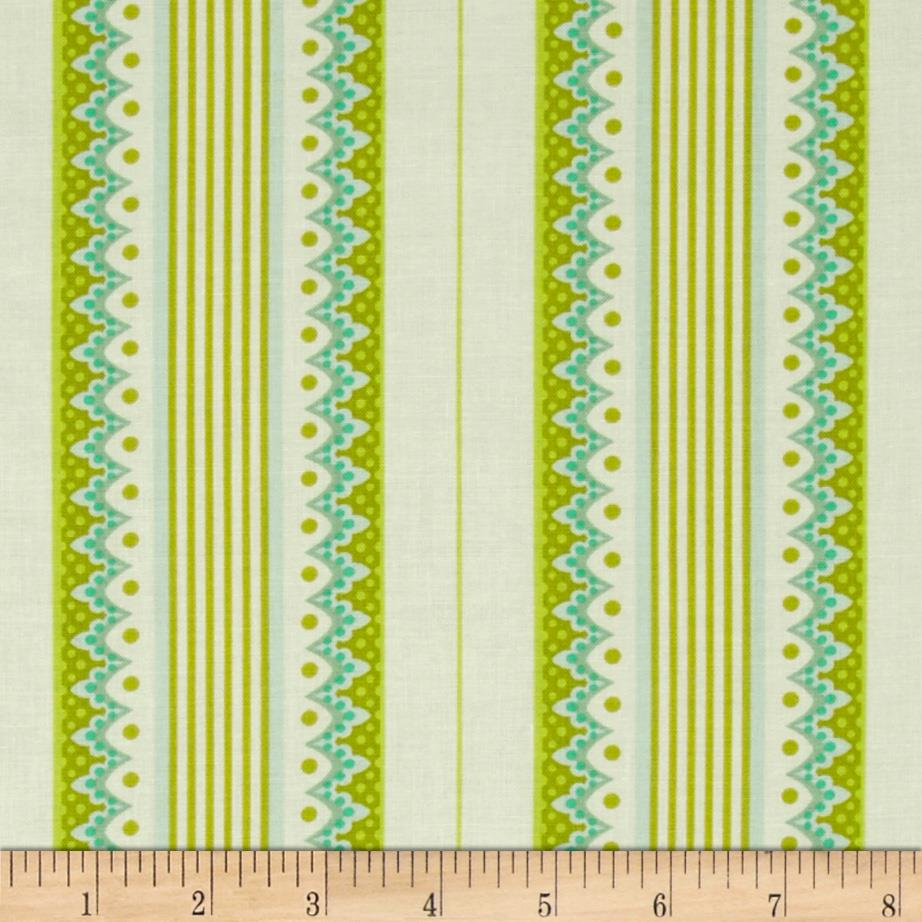 Heather Bailey Lottie Da Carousel Stripe Olive