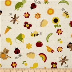 Garden Patch Large Motif Toss Cream