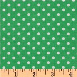 Crazy for Dots & Stripes Dottie Green/White