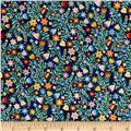 Crafty Cats Flowers Blue