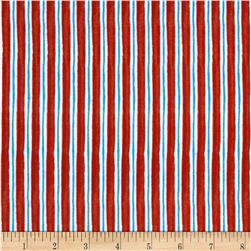 Winter Magic Flannel Stripe Red