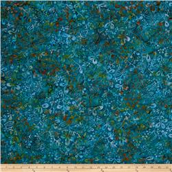 Benartex Balis Batik Color Pop Wild Flowers Teal