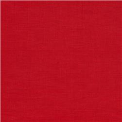 European Linen Blend Shirting Red