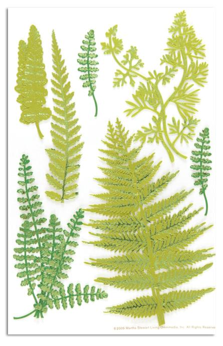 Martha Stewart Crafts Fern Stickers