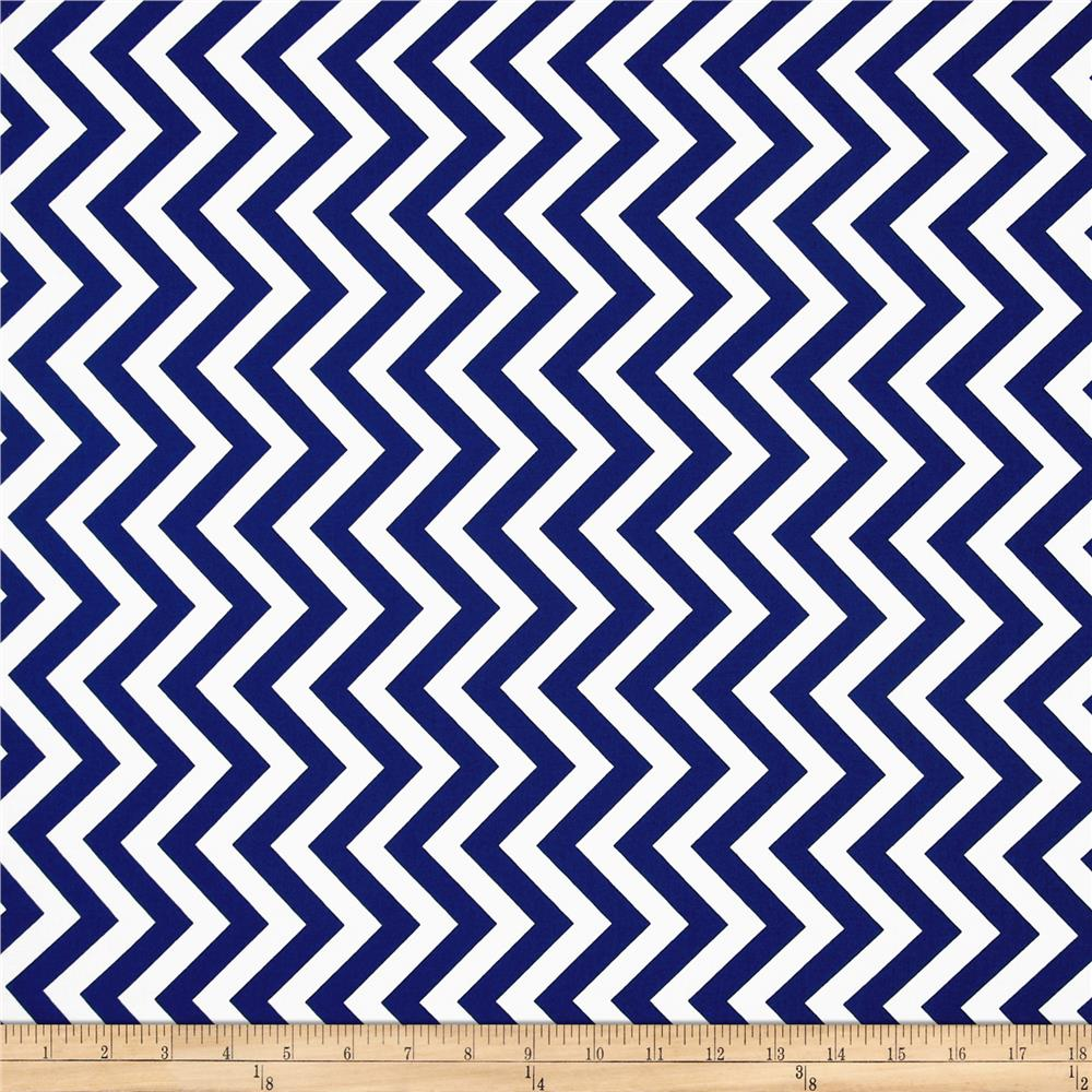 Moda Half Moon Modern Medium Zig Zag Royal