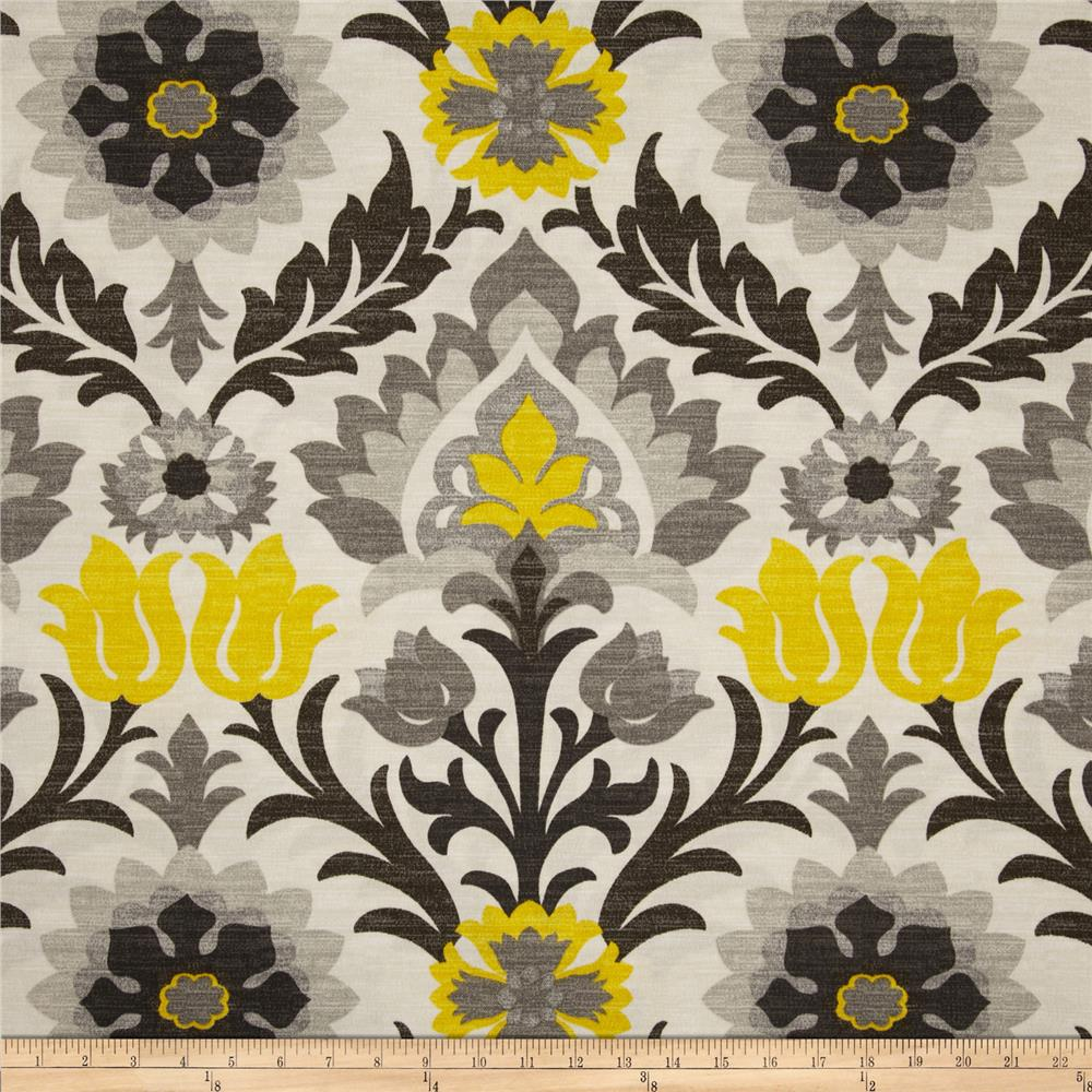 Discount outdoor fabric by the yard - Waverly Sun N Shade Santa Maria Licorice Discount Designer Fabric Fabric Com