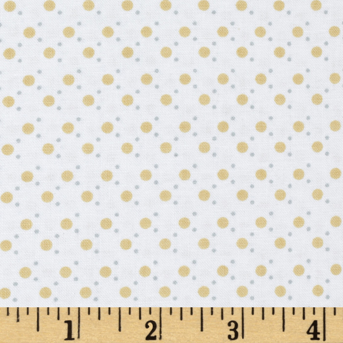 Small Dots White/Gold