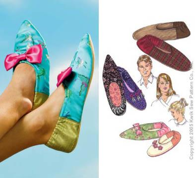Kwik Sew Adult & Children Slippers Pattern
