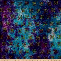 Merrivale Indian Batiks Flowers Purple Multi