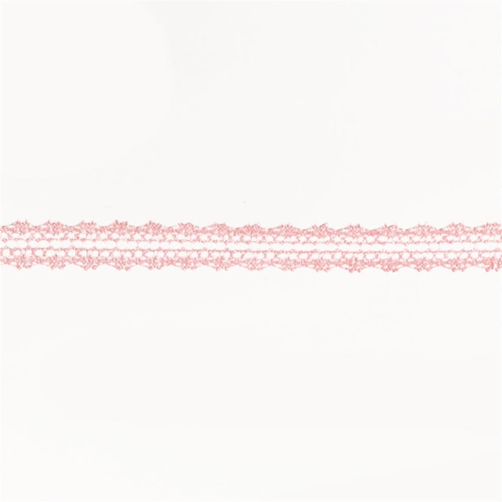 "May Arts 5/8"" Crochet Lace Ribbon Spool Pink"