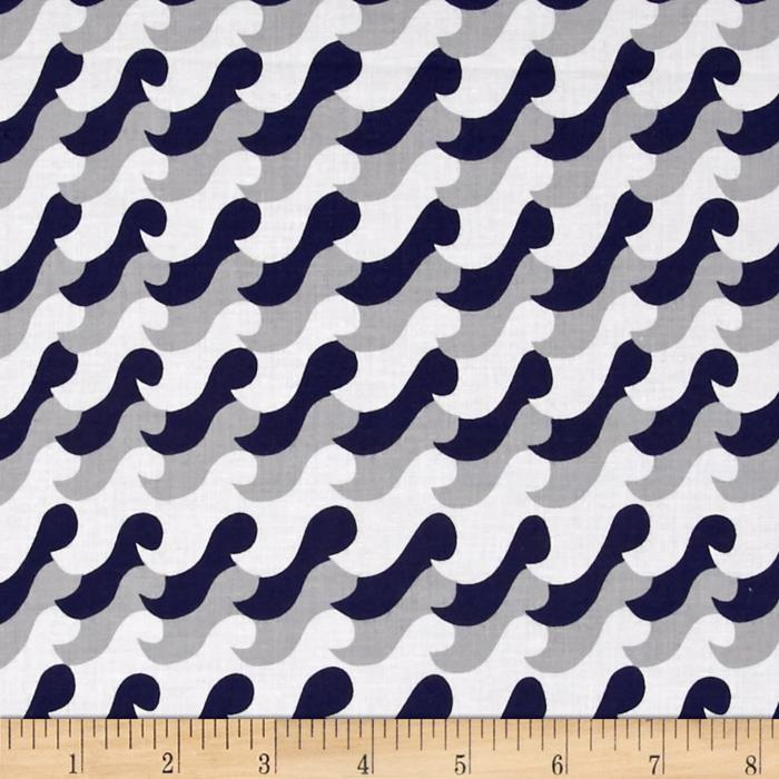 Nautical Treasure Waves Light Navy