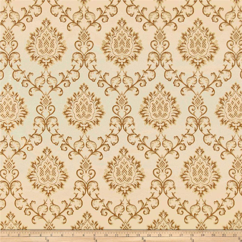 Europatex damask jacquard beige discount designer fabric for Jacquard fabric