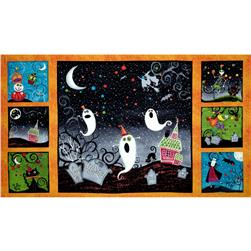 Halloween Panel Orange/Multi