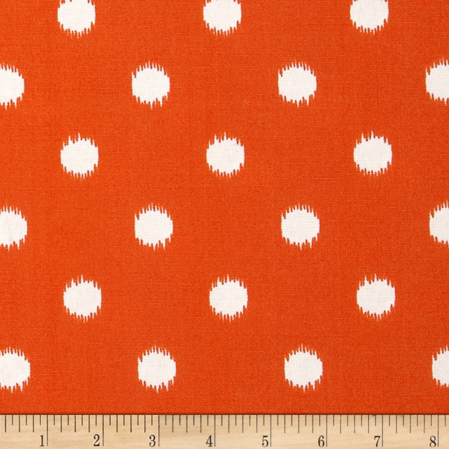 Premier Prints Indoor/Outdoor Ikat Dots Orange