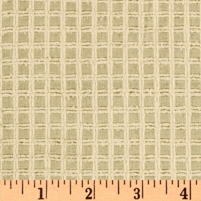 Raw Silk Shirting Squares Beige