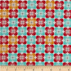 Joel Dewberry Notting Hill Cotton Voile Square Petals Poppy