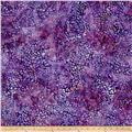Kaufman Artisan Batiks Tiger Fish Pebbles Purple